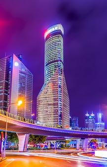 Exposición, edificio, vista, noche, cityscape, famoso
