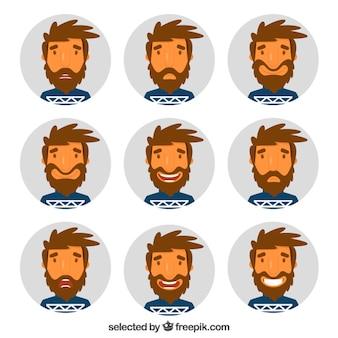 Expresiones de hombre