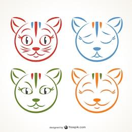 Expresiones faciales de gato