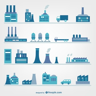 Fábricas e iconos de industria
