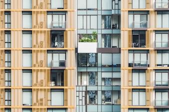 Fachada de edificios con balcones