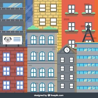 Fachadas de los edificios de la ciudad