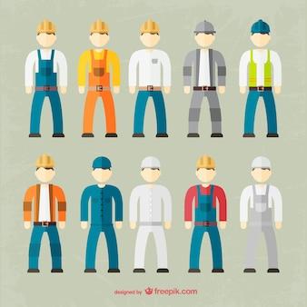 Colección de vestimenta de trabajadores