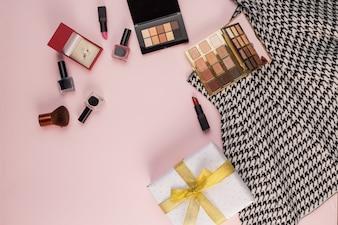 Falda de maquillaje caja presente