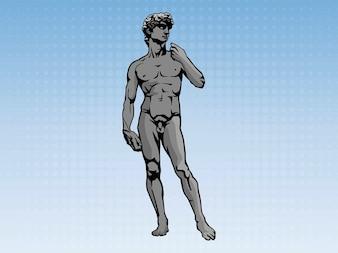 Famosa estatua atlético david vector arte