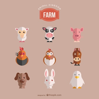 Vectores animales de granja