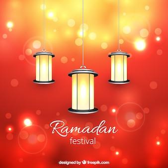 Farolillos para el festival Ramadán
