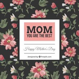 Felicitación floral del día de la madre