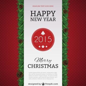 Feliz Año Nuevo modelo 2015 del cartel