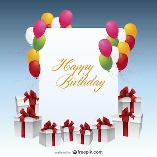 feliz cumpleaños vector de tarjeta postal