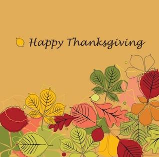 Feliz Día de Gracias ilustración vectorial