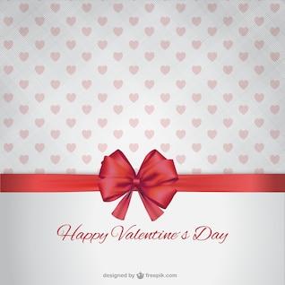 Feliz Día de San Valentín con lazo