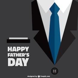 Feliz día del padre con fondo de traje