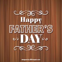 Feliz día del padre en fondo de madera