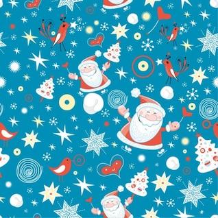 Feliz Navidad de fondo sin fisuras diseño gráfico vectorial