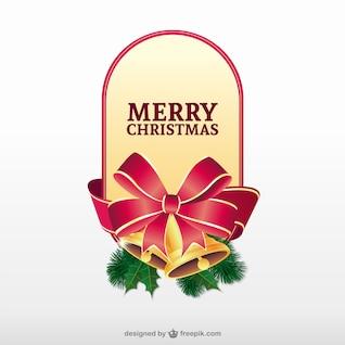 Feliz vector de la etiqueta de la Navidad