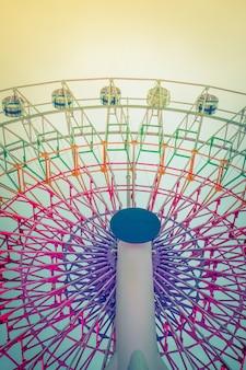 Ferris Wheel (imagen filtrada procesada efecto de la vendimia.)