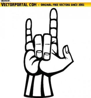 Fevils cuernos signo de la mano