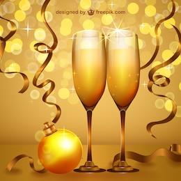 Fiesta de año nuevo vector