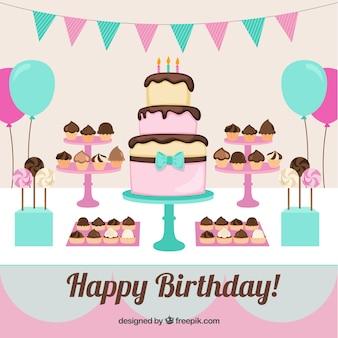 Fiesta de cumpleaños feliz
