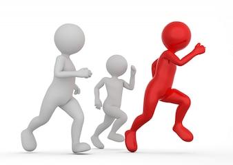 Figuras competitivas corriendo