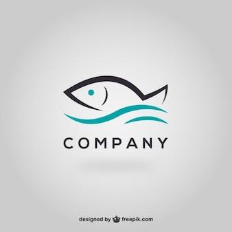 Plantilla de logo con pez