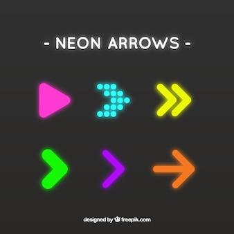 Flechas brillantes en estilo abstracto