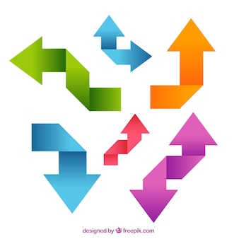 Flechas de colores origami