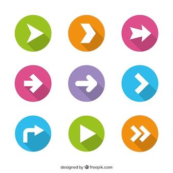 Flechas de colores