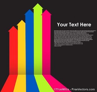 Flechas de negocios de color de fondo