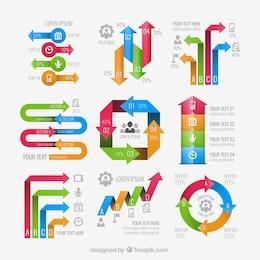 Flechas elementos infográficos