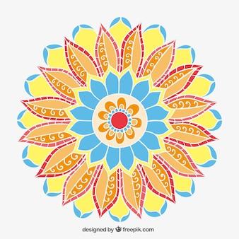 Flor abstracta en estilo árabe