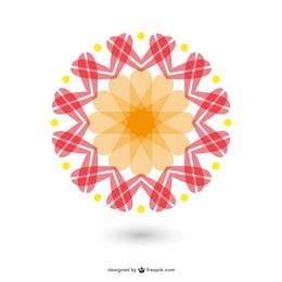 Flor abstracta redonda