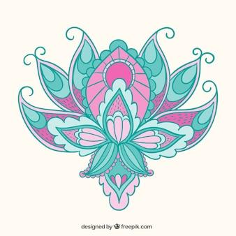 Flor árabe en estilo abstracto
