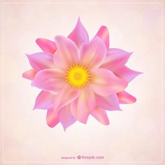 Flor con pétalos de color rosa