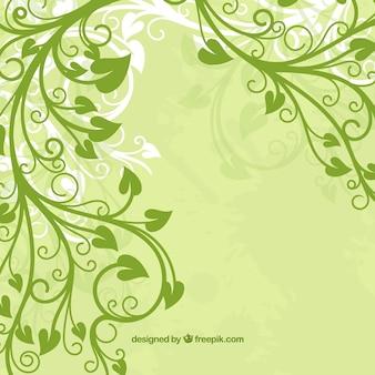 flor de hoja verde