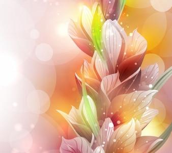Flor de lirio de primavera de vectores