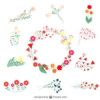 Elementos gráficos florales gratis