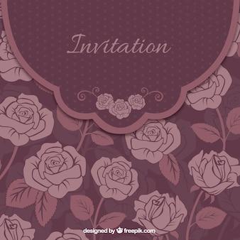 Tarjeta floral invitación