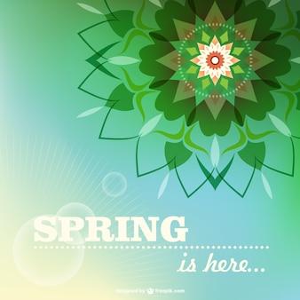 Vector tarjeta floral de primavera