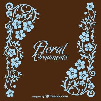 Vector de tarjeta floral