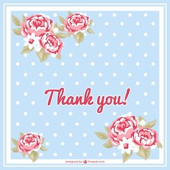 Tarjeta floral de agradecimiento