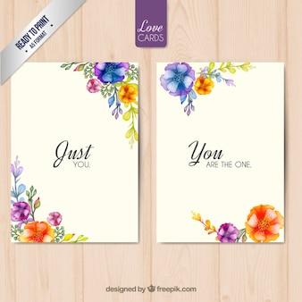 Florales tarjetas de amor
