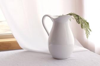 Florero blanco