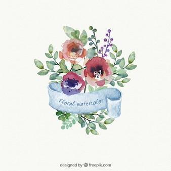 Flores Acuarela