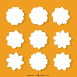 Flores blancas formas
