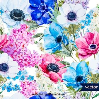 Flores de primavera Acuarela