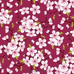 Flores del cerezo patrón