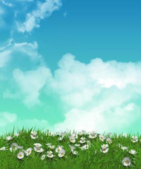 Flores en la pradera