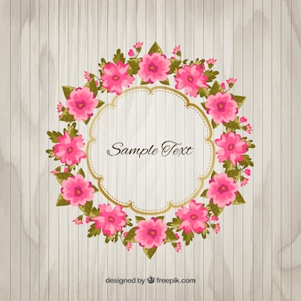 Flores rosadas marco